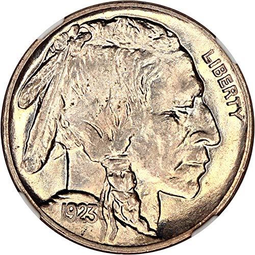 1923 P Buffalo Nickels Nickel MS65 NGC