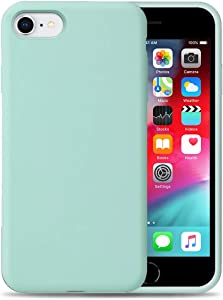Liquid Silicone Phone Case for Apple iPhone SE2 / 7/8 /Full Body Protection/Shockproof/Gel Rubber/Cover Case Drop Protection MintGreen