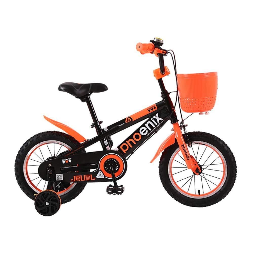 ¡envío gratis! naranja Axdwfd Infantiles Bicicletas Bicicleta Bicicleta Bicicleta para niños con ruedas de entrenamiento para niños y niñas, 12 14   16 18 pulgadas Bicicleta para niños ajustable para niños de 2-9 años Ciclismo, azul, verde, na 12in  compras online de deportes