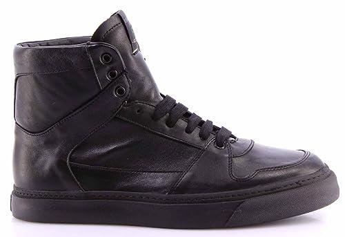 Serafini Scarpe Uomo Sneakers Alte Gold Edition Sport 4700G Pelle Nera  Esclusive 7e7f0f3c79a