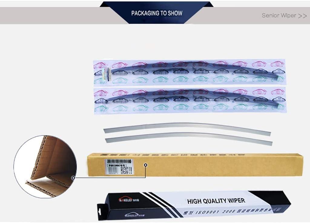 Compatible avec Lames Essuie-Glace Ford F-150 TRIC Essuie-Glaces avants Pare-Brise de Remplacement dessuie-Glace Lames Color : B, Size : 2018 3.5T Double Life Service Set of 2