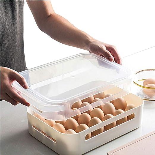 CHUN BO Bandeja para Huevos De Nevera - Porta Huevos Grande De ...