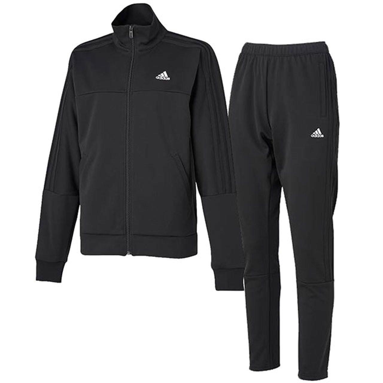 アディダス(adidas) レディース SP WU ジャケット&パンツ 上下セット(ブラックホワイト) FAG02-CY8801-FAG00-CY8798 B0766NMQXR  ブラックホワイト 日本 J/M-(日本サイズM相当)