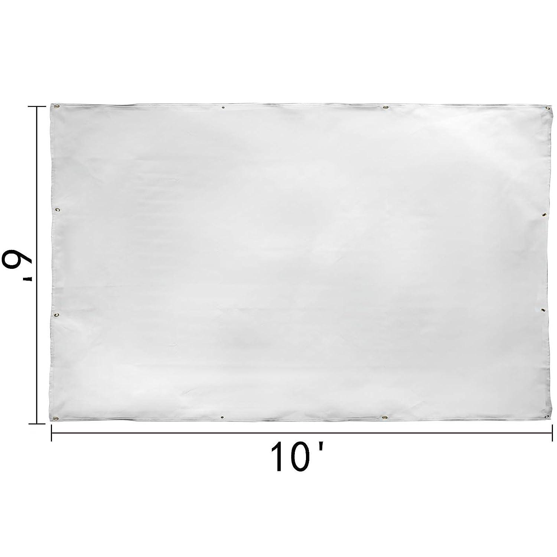 VEVOR Manta de Protecci/ón de Soldadura Manta de Fibra de Vidrio 6 x10 FT //1.8 x 3.05m Manta Ign/ífuga Resistente Blanco