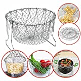 KDT 12 in 1 Chef Basket Foldable Strainer Kitchen Tool