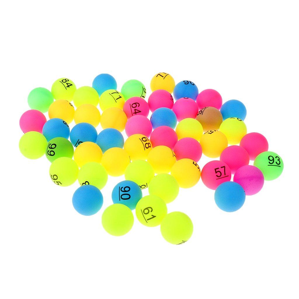 FLAMEER Bunt Tischtennis-Bälle 40mm mit Nummer, 50er / Set 50er / Set - Nummer 1 - 50