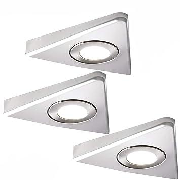 3 x 2,6 W LED Küche Unterschrank Dreieck Spot Licht ...