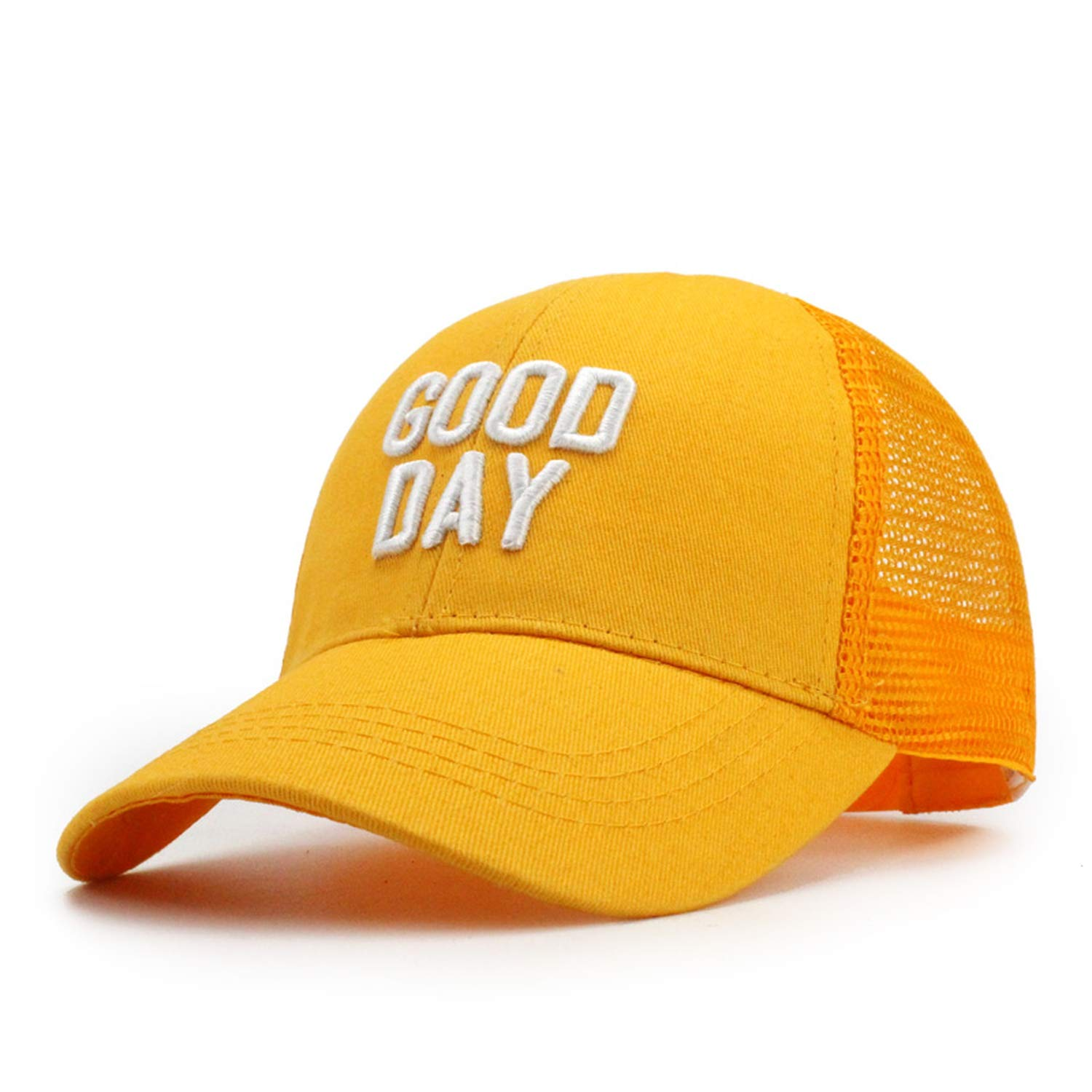 Baby Girls Good Day Embroidery Baseball Caps Children Snapback Mesh Summer Adjustable Shade Sun Hat Decoration