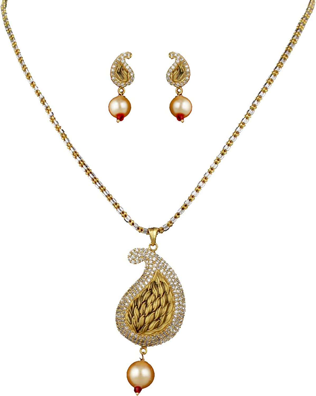 Amazon Com Babosa Sakhi Antique Gold Look American Diamond