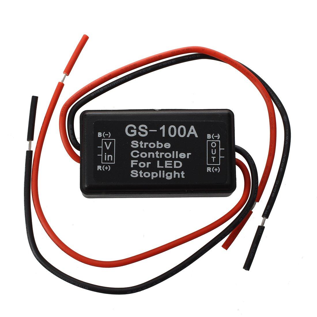 SODIAL(R) Flash Strobe Controller Flasher Module for LED Brake Tail Stop Light 12-16V 019879