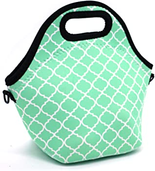 Orchidtent Neoprene Water Resistant Portable Lunch Bag
