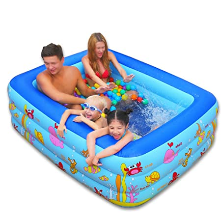 Baño Plegable Piscina Grande para niños Piscina Hinchable ...