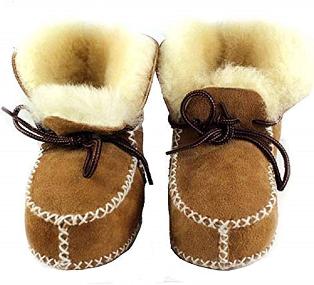 Kids Boy Girls Winter Fur Snow Boots Toddler Infant Baby Booties Warm Shoes Size
