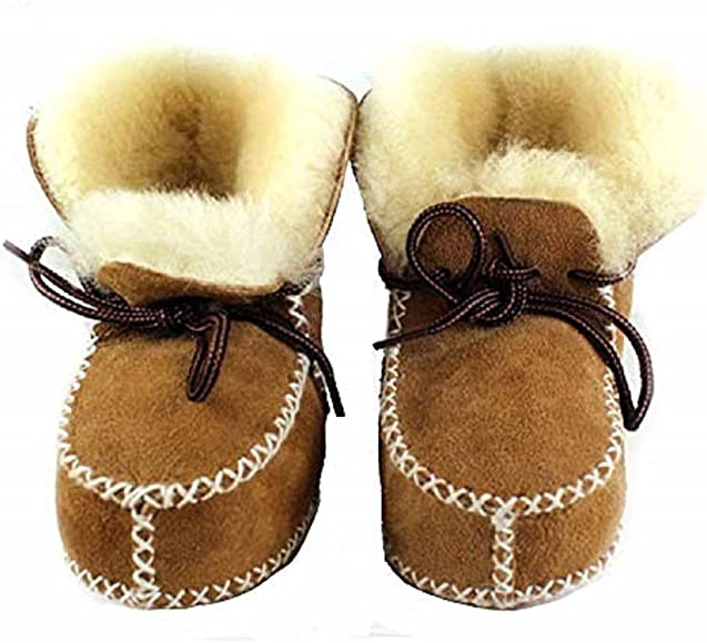 Sheepskin baby and toddler boots//booties//slippers 2 colours NEW  3 sizes