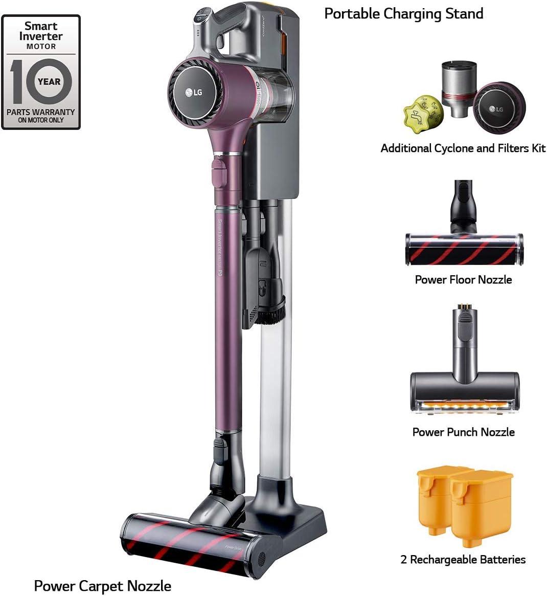 LG A908VMR Stick Vacuum, Vintage Wine