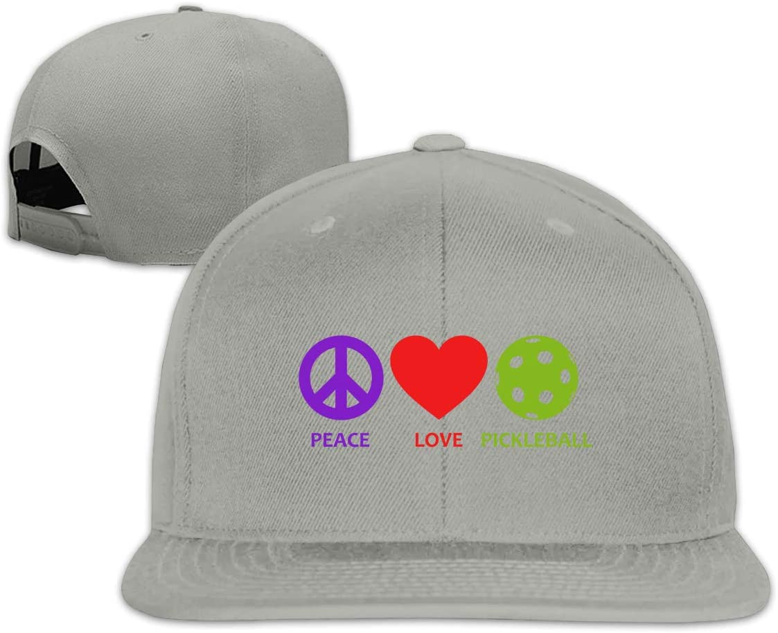 MOCSTONE Unisex Snapback Hat Peace Love Pickleball Adjustable Baseball Cap