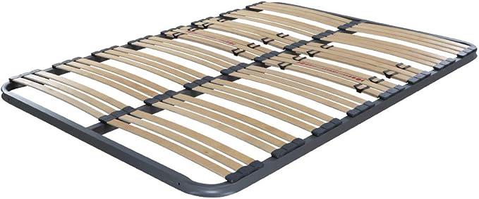 Dormidán - Somier Somieres multiláminas con regulación lumar, Tubo de Acero 40x30mm, Medida 80x190cm sin Patas.