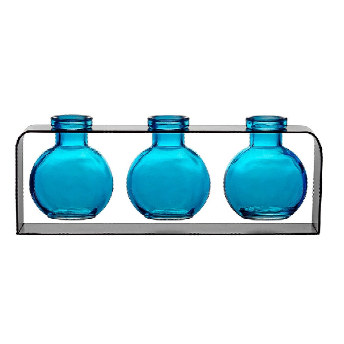 Amazon small glass vases colored bottles unique vase amazon small glass vases colored bottles unique vase g171f aqua 3 ball bottles with stand modern vases decorative accents glass centerpieces reviewsmspy