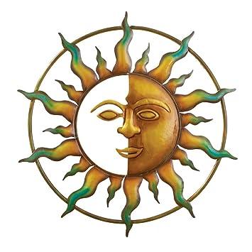 Bronze Sun Wall Art, For Indoor Or Outdoor Use, 18u0026quot; ...