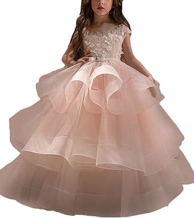 Amazon.com: WDE - Vestido largo de fiesta para niñas ...