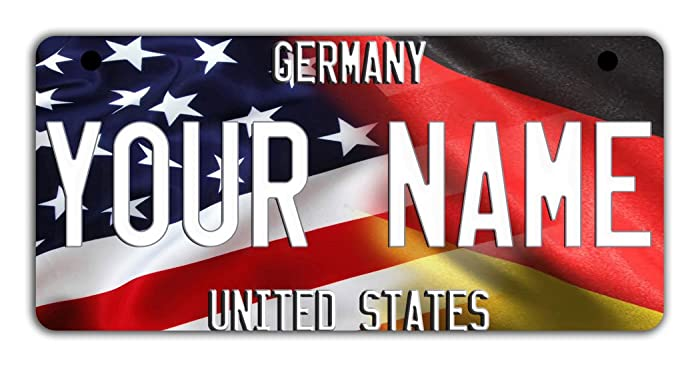 db243c12a635 Amazon.com: BRGiftShop Personalize Your Own Mixed USA and Germany ...