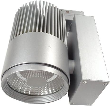 Foco LED 3 fases de corriente riel (35 W, 3.000 Kelvin reflector 35 °, Plateado: Amazon.es: Iluminación