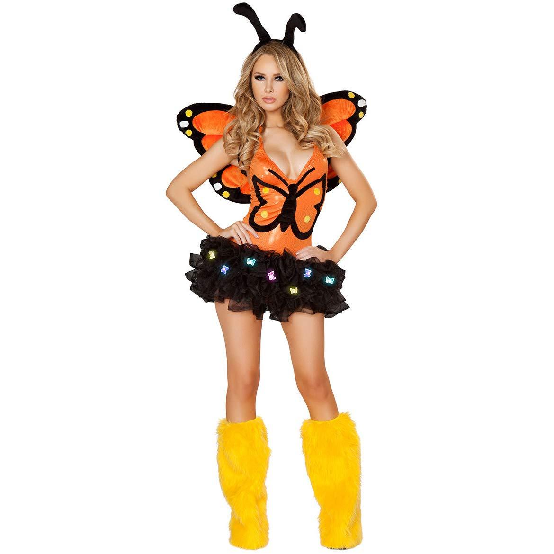 CNHK Damen Kostüm für, Halloween-Kostüme, sexy Tierelf Schmetterling-Märchen Kostüme, Rollenspiel-Uniformen Eine Größe