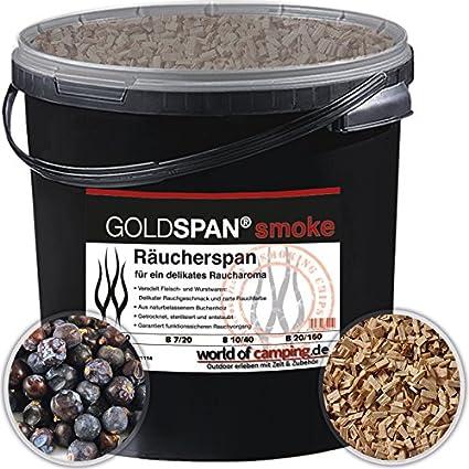 goldspan Smoke B 10/40 serrín para ahumar haya Incienso Madera Smoking 5 kg,