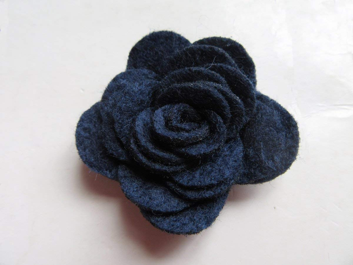 YYCRAFT Pack of 20PCS Felt Rose 1.5 4D Flower Applique//Bow-Coral