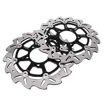 Amazon.com: GZYF Black Front Left & Right Brake Disc Rotors ...