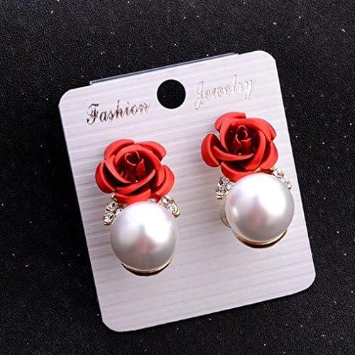 Toamen Boucles doreilles Boh/ême Fleur Strass perle Rose Style d/ét/é Mode Bijoux Femmes