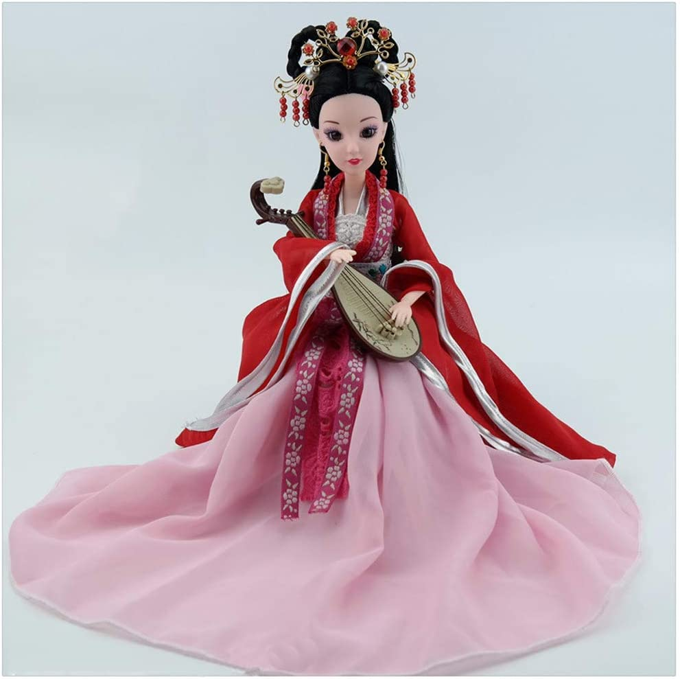 LIUSHI Pretty Doll Decorative Doll Table with Exquisite Hair Doll, Chinese Figurine for Decoration of The House, Female Gift, Gift Valentine,C4