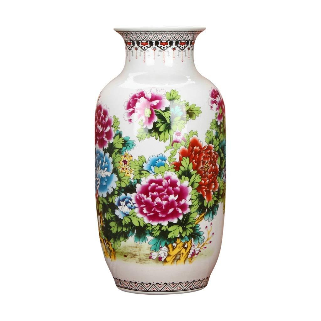 MAHONGQING 花瓶セラミックスパステル調の牡丹の花貴重な冬メロンランディング花瓶現代中国の家の装飾 B07S354QJK