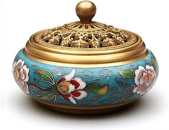 芳香器・アロマバーナー 純銅香炉ポータブル香炉、仏教香ホームラック室内浄化された空気トレイお香 アロマバーナー芳香器