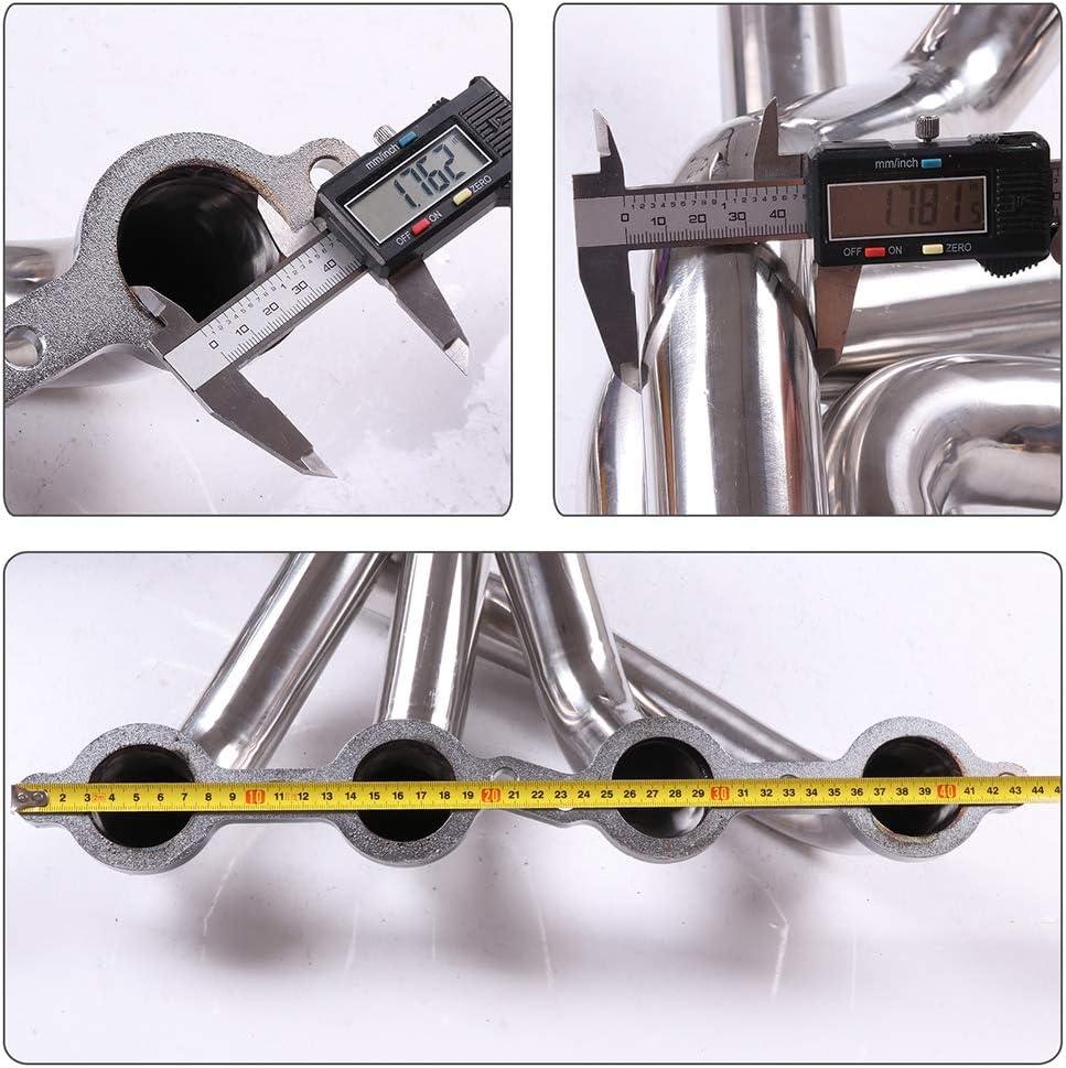 SS Long Tube Exhaust Header Manifold Fit for 2005-2013 Chevy Corvette C6 Z06 LS2//LS3 V8 HDSCC05C6T8