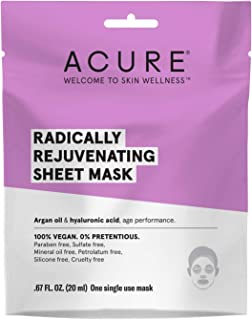 product image for ACURE Radically Rejuvenating Sheet Mask | 100% Vegan | Provides Anti-Aging Support | Argan Oil & Hyaluronic Acid - Hydrates & Nourishes | 5 Count