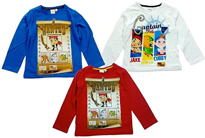 Pirati Jake Maglietta E Lunga T Originale Manica Disney Shirt I WH9DI2E