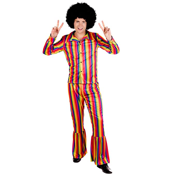 70s Costumes: Disco Costumes, Hippie Outfits fun shack Mens 70s Hippie Costumes Adults 60s Flower Power Hippy Suits - Choice of Styles $49.99 AT vintagedancer.com