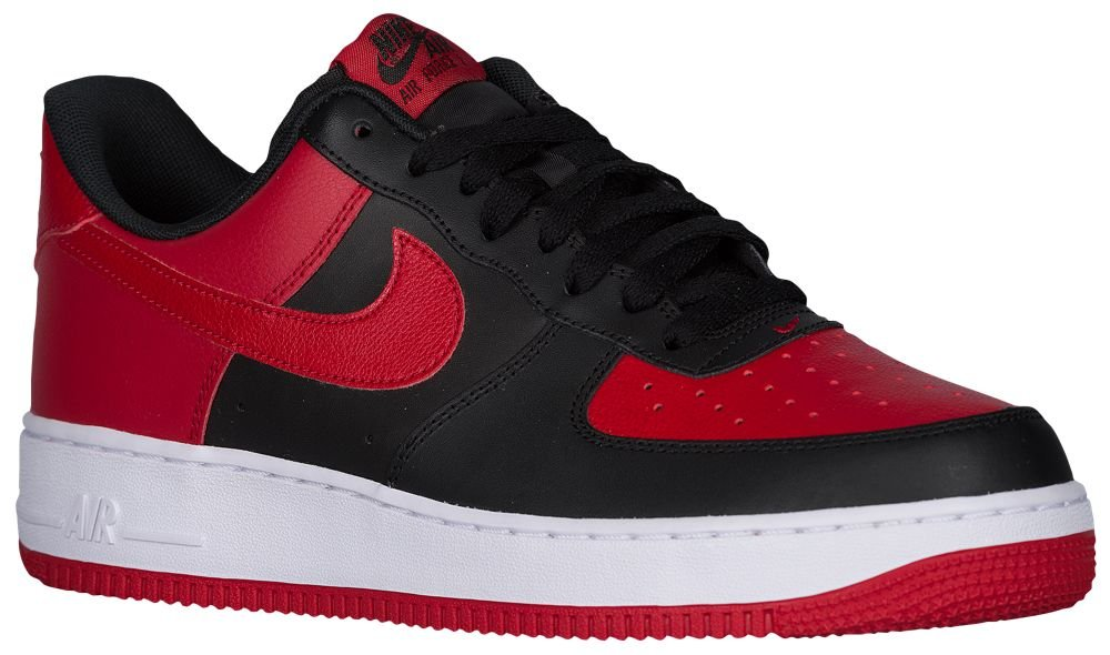 [ナイキ] Nike Air Force 1 Low - メンズ バスケット [並行輸入品] B071FJVFQN US10.5 Black/Gym Red/White