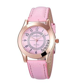 Relojes Pulsera Mujer, Xinan Reloj de Pulsera de Cuarzo Reloj (Rosa): Amazon.es: Deportes y aire libre