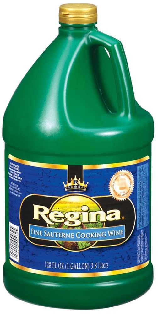 Regina Cooking Wine, Sauterne,Plastic,1 Gallon - 4 Case