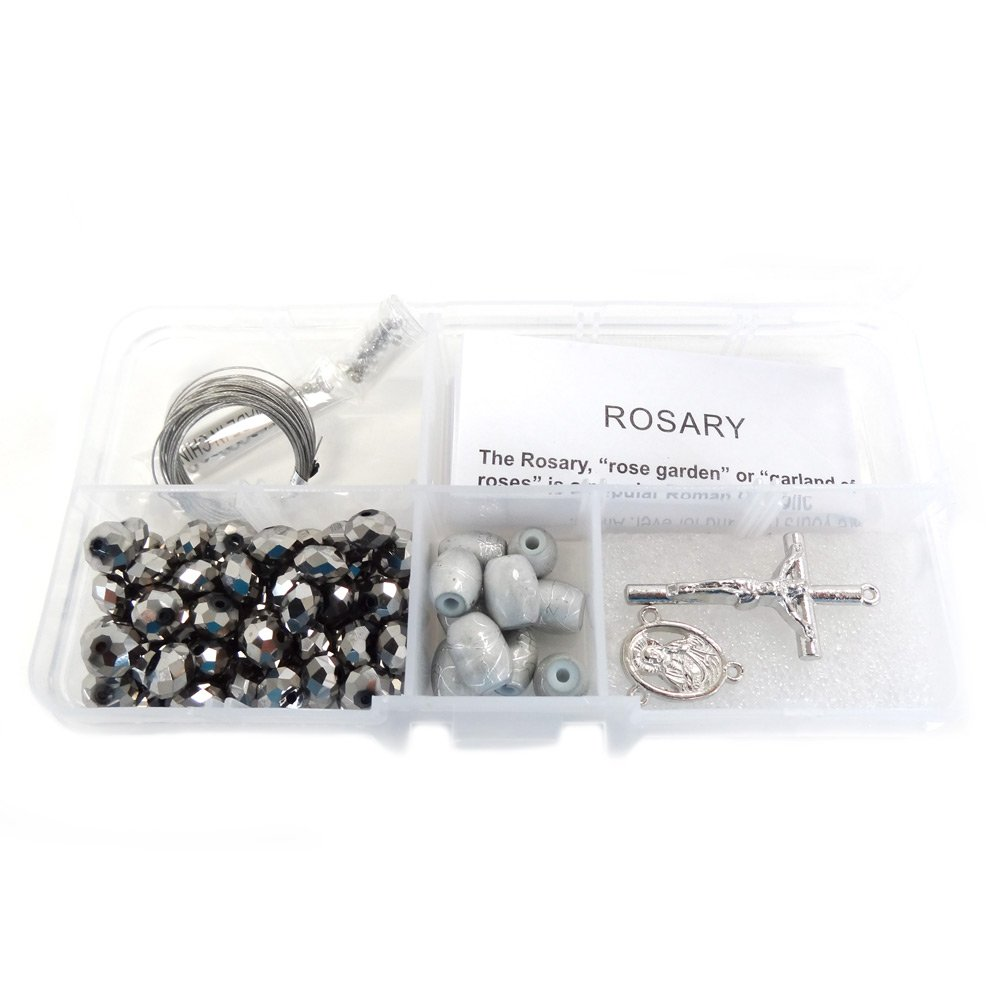 Silver Fiona CR1201 Crystal and Pearl Beads pinkry DIY Kit purple