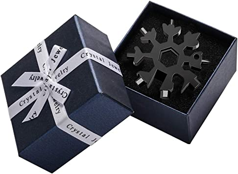 Black Easy N Genius Saker 18-in-1 Stainless Steel Snowflakes Multi-Tool Saker 18-in-1 Snowflake Multi-Tool,AMENITEE 18-in-1 Snowflake Multi-Tool