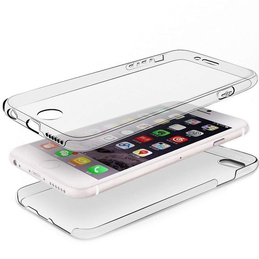 Nadoli 360 Degr/é Coque pour Huawei P Smart,Full Body Mince Double Avant et Arri/ère Doux Flexible Clair Solide Couleur Souple Etui Housse pour Huawei P Smart,Transparent
