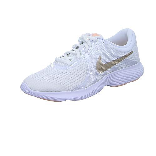 Nike Chaussures de Sport Revolution 4 GS Femmes Blanches 943306100