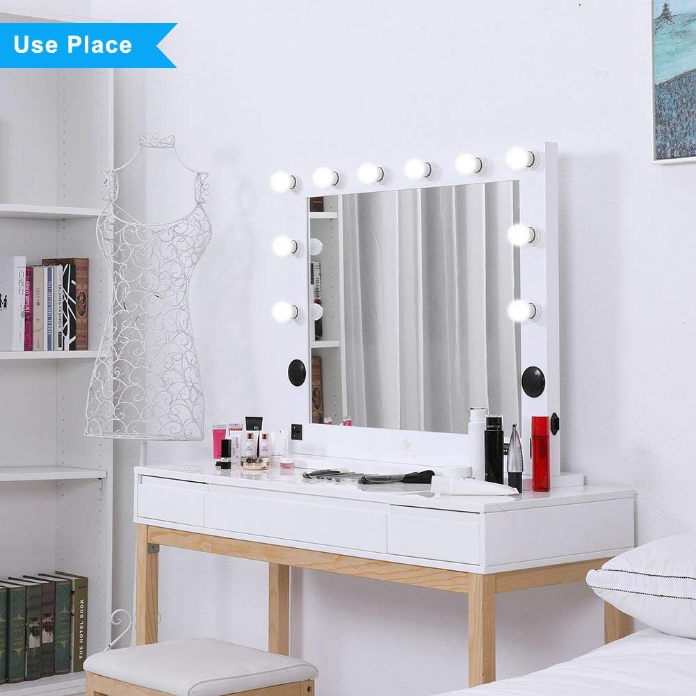 Hollywood Lighted Makeup Vanity Mirror Light, Makeup ...
