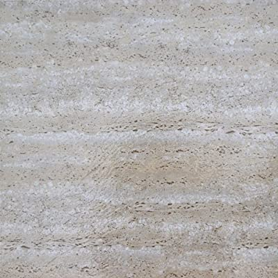 Achim Imports FTVMA42545 Tivoli Travatine Marble 12x12 Self Adhesive Vinyl Floor Tiles/45 Sq Ft, Piece