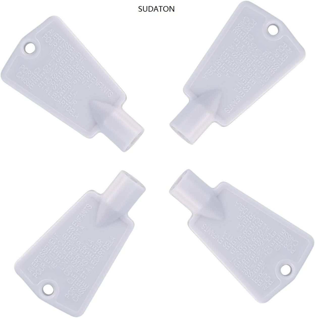 297147700 Freezer Door Key Replacement for Electrolux Frigidaire Kenmore Refrigerator Replaces AP4301346 PS1991481 by SUDATON(4 Packs)