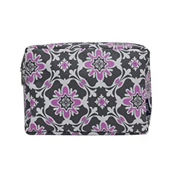 a593efcbe440 NGIL Large Travel Cosmetic Pouch Bag 2019 Collection (Purple Quatro Vine  Grey)