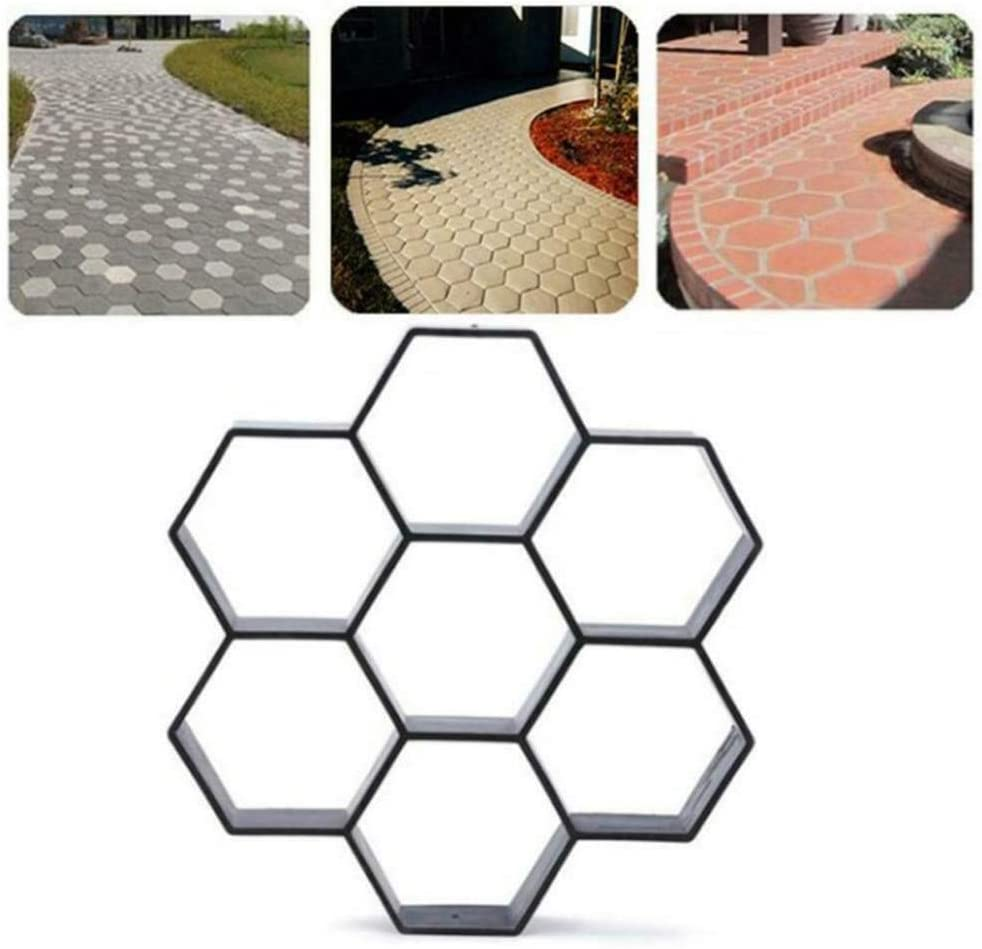 LI&muzi 1212 in DIY Patio Walk Maker Stepping Stone Concrete Paver Mold Reusable Path Maker Mold Garden Paving Stone Molds,2pcs